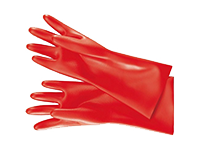 Electrically insulating safety gloves